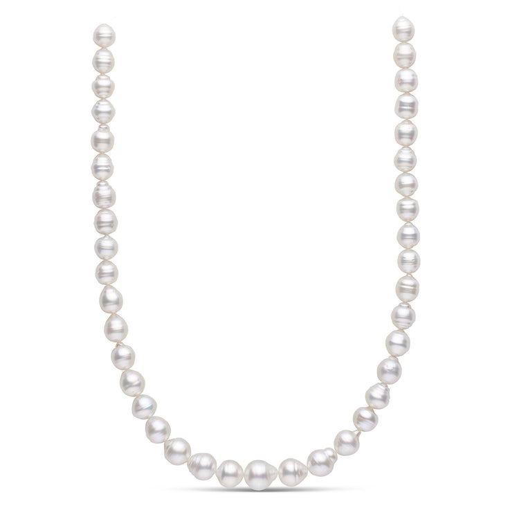 18-inch 9.0-12.1 mm AA+ Baroque White South Sea Pearl Necklace