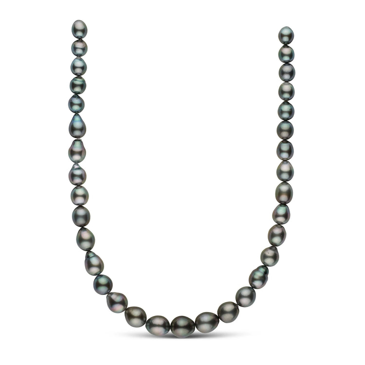 18-inch 9.0-12.6 mm AA+/AAA Drop Tahitian Pearl Necklace