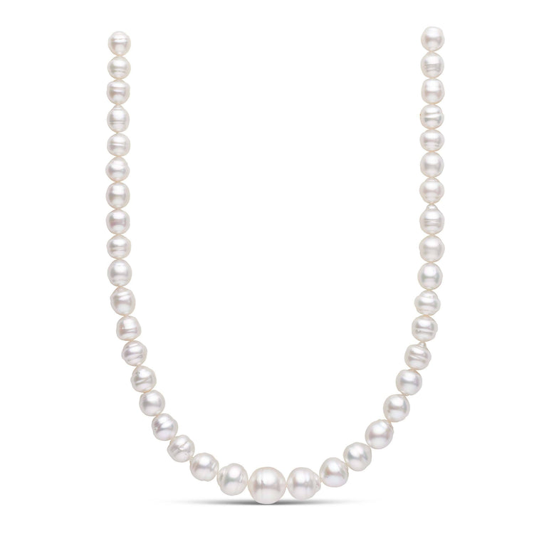 18-inch 9.0-14.2 mm AA+ Baroque White South Sea Pearl Necklace