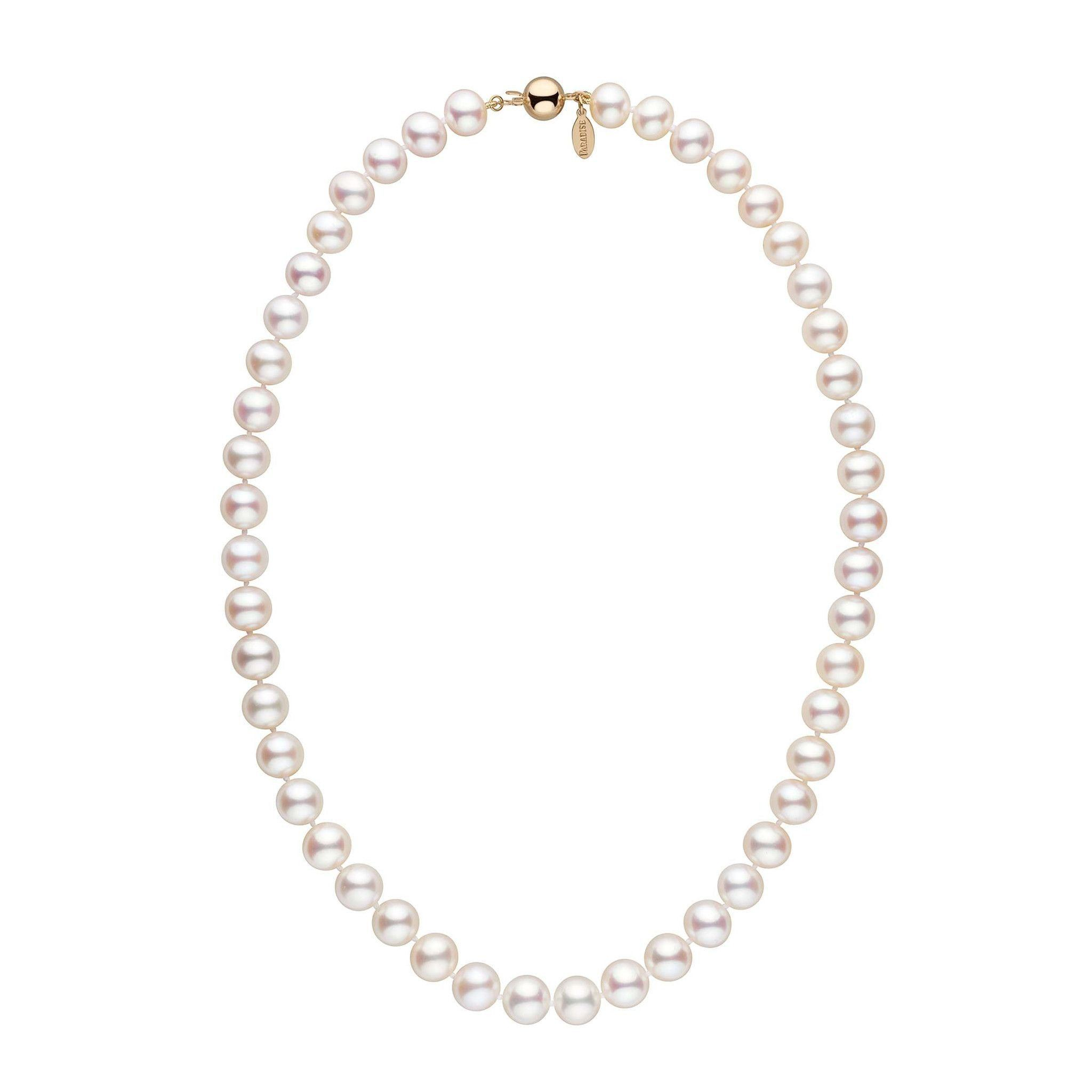 9.0-9.5 mm 18 Inch White Freshadama Freshwater Pearl Necklace