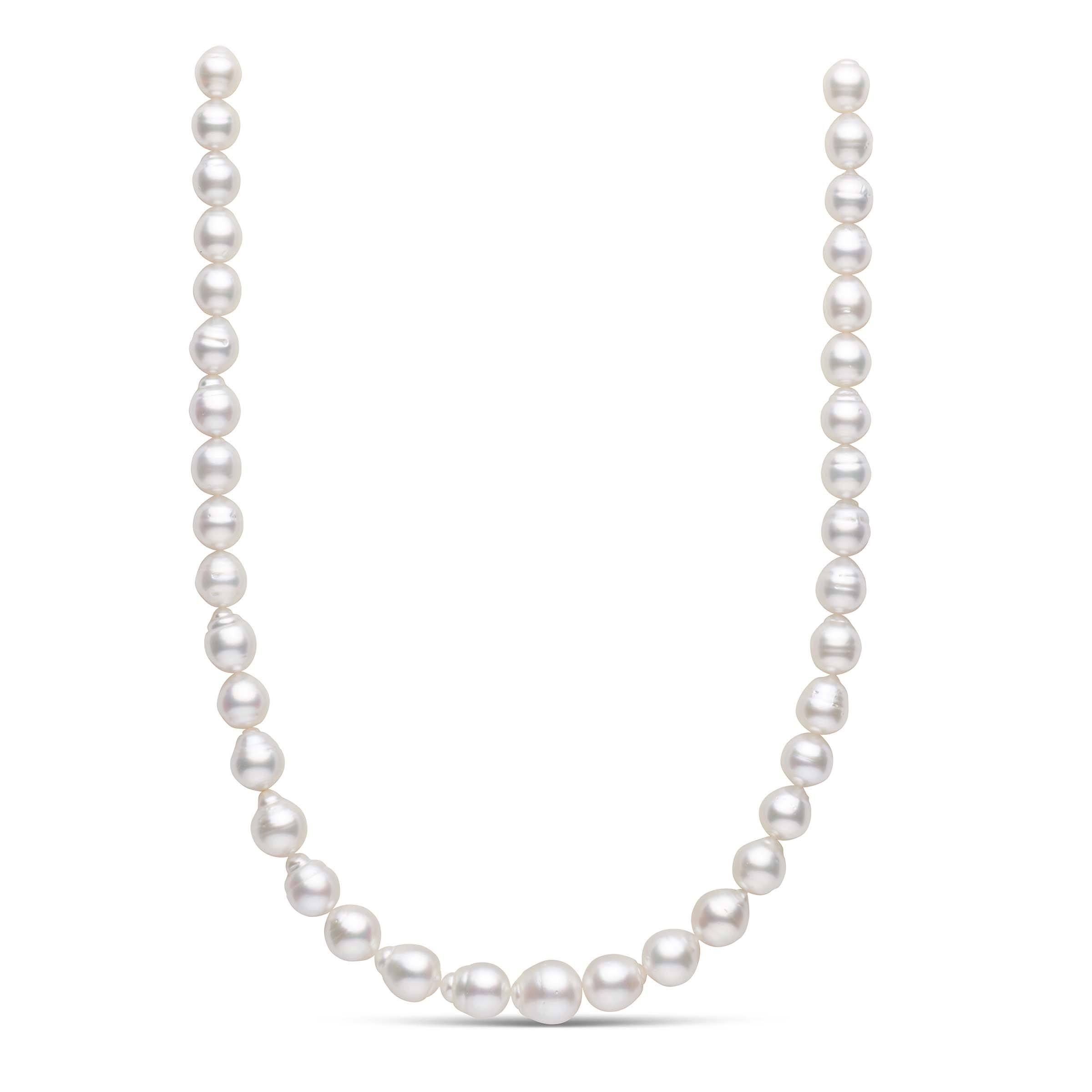 18-inch 9.1-12.1 mm AA+/AAA Baroque White South Sea Pearl Necklace