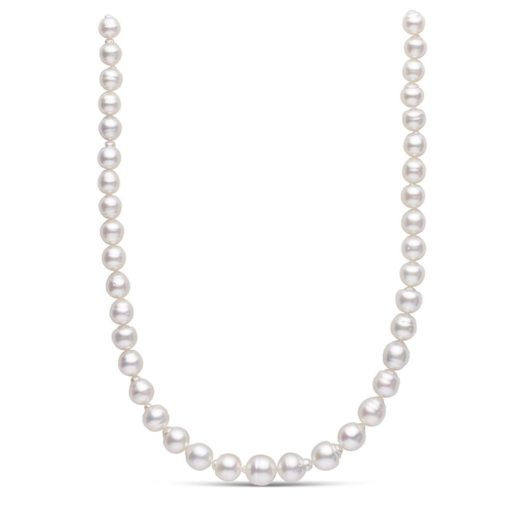 18 inch 9.2-12.1 mm AA+ Baroque White South Sea Pearl Necklace