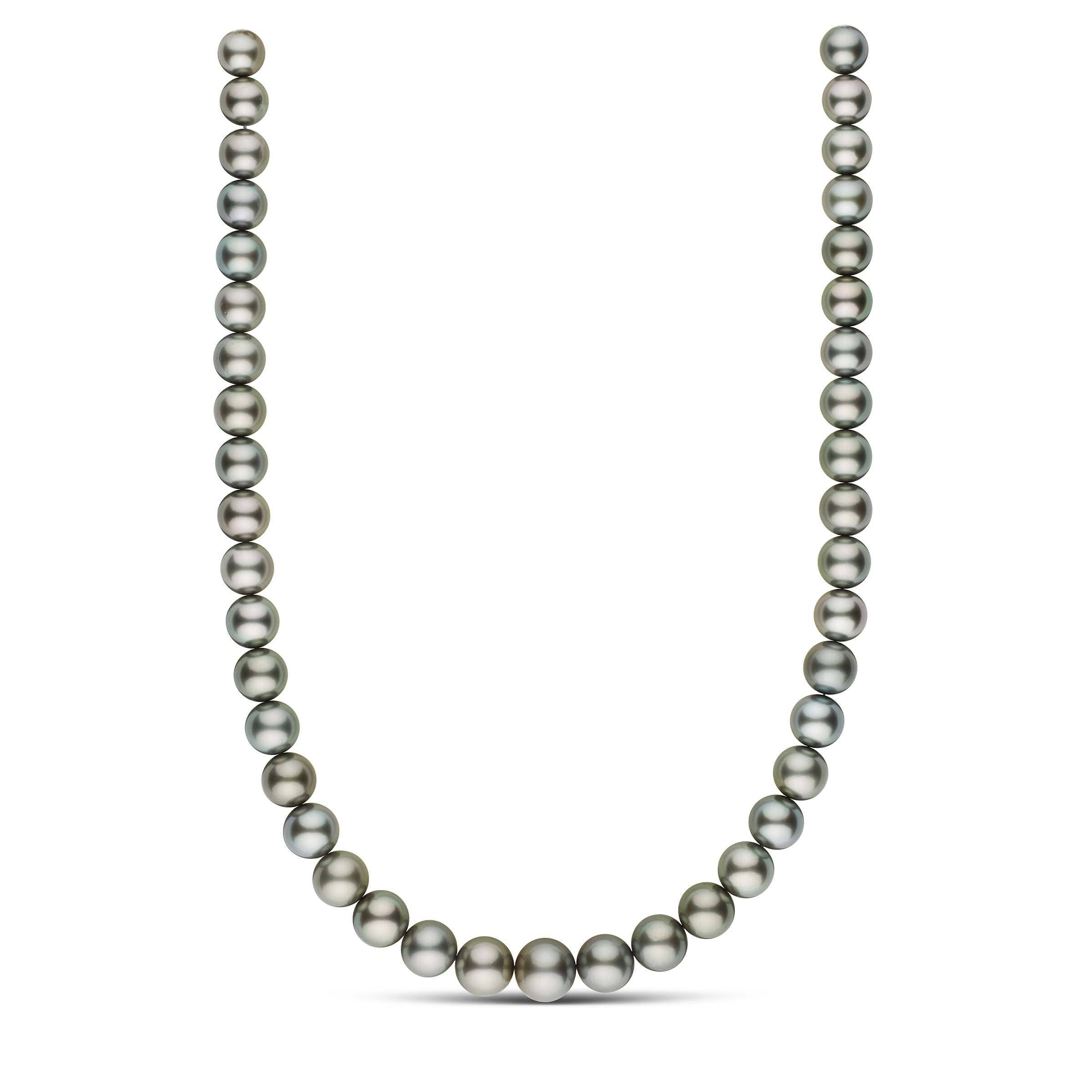18-inch 9.4-12.5 mm AAA Round Tahitian Pearl Necklace
