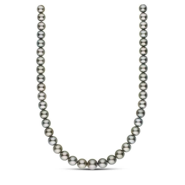 18 inch 9.4-12.5 mm AAA Round Tahitian Pearl Necklace