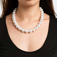 18-inch AA+/AAA 13.0-16.0 mm White South Sea Round Pearl Necklace