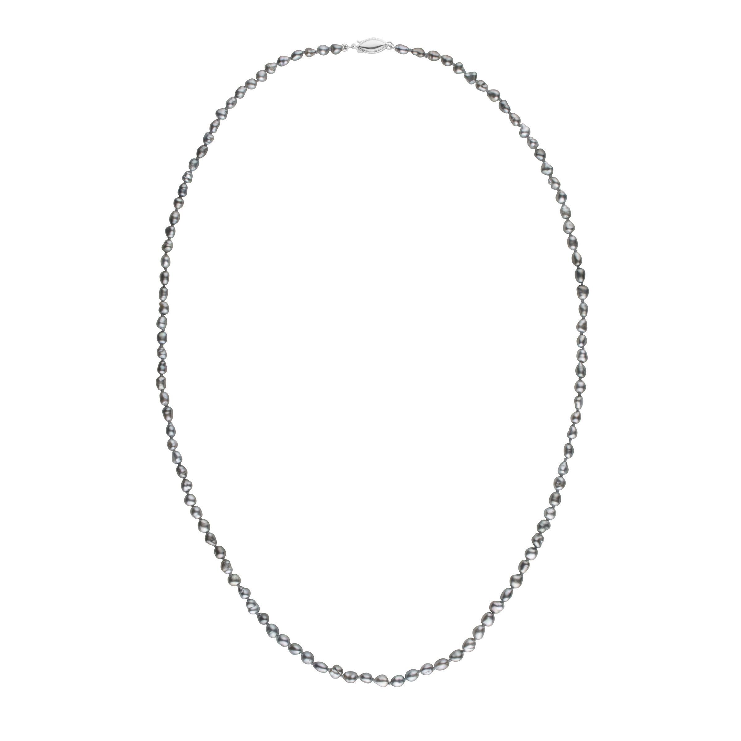 3.0-4.5 mm 24 Inch Keshi Tahitian Pearl Necklace