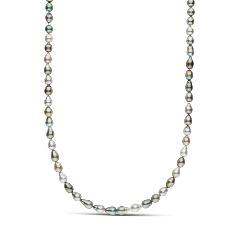 25-inch 8.0-9.0 mm AAA Drop Tahitian Pearl Necklace