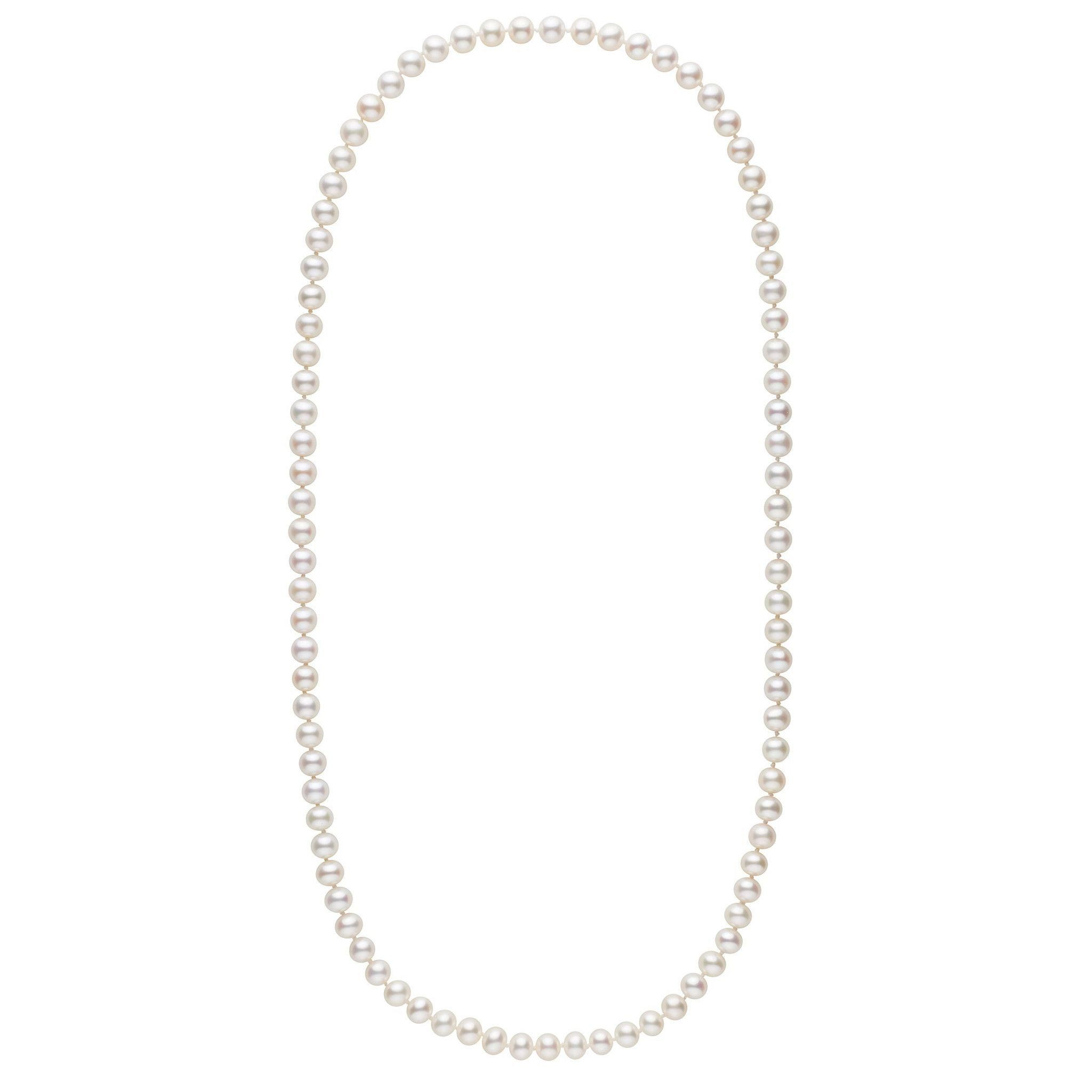 26-inch 7.5-8.0 mm AA+ White Freshwater Pearl Necklace