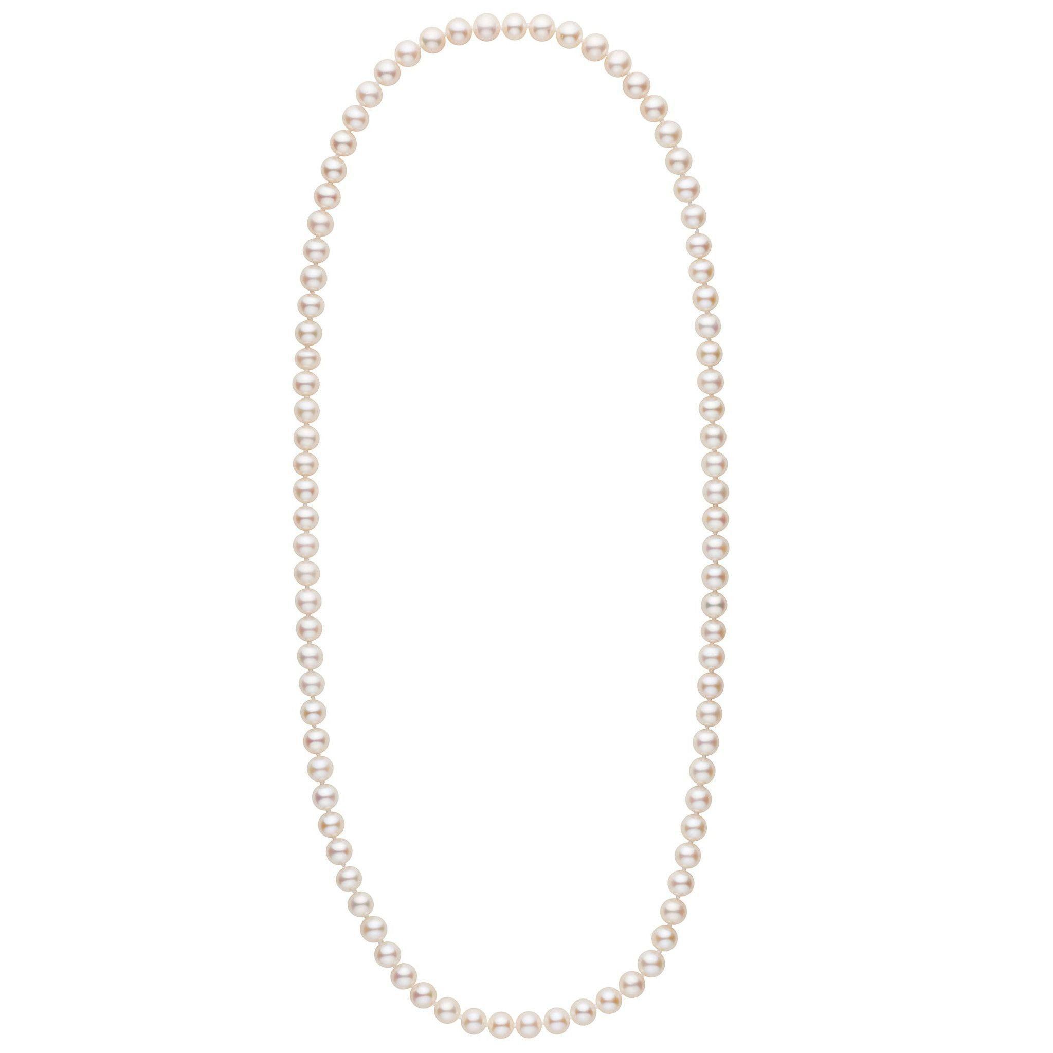 26-inch 7.5-8.0 mm AAA White Freshwater Pearl Necklace
