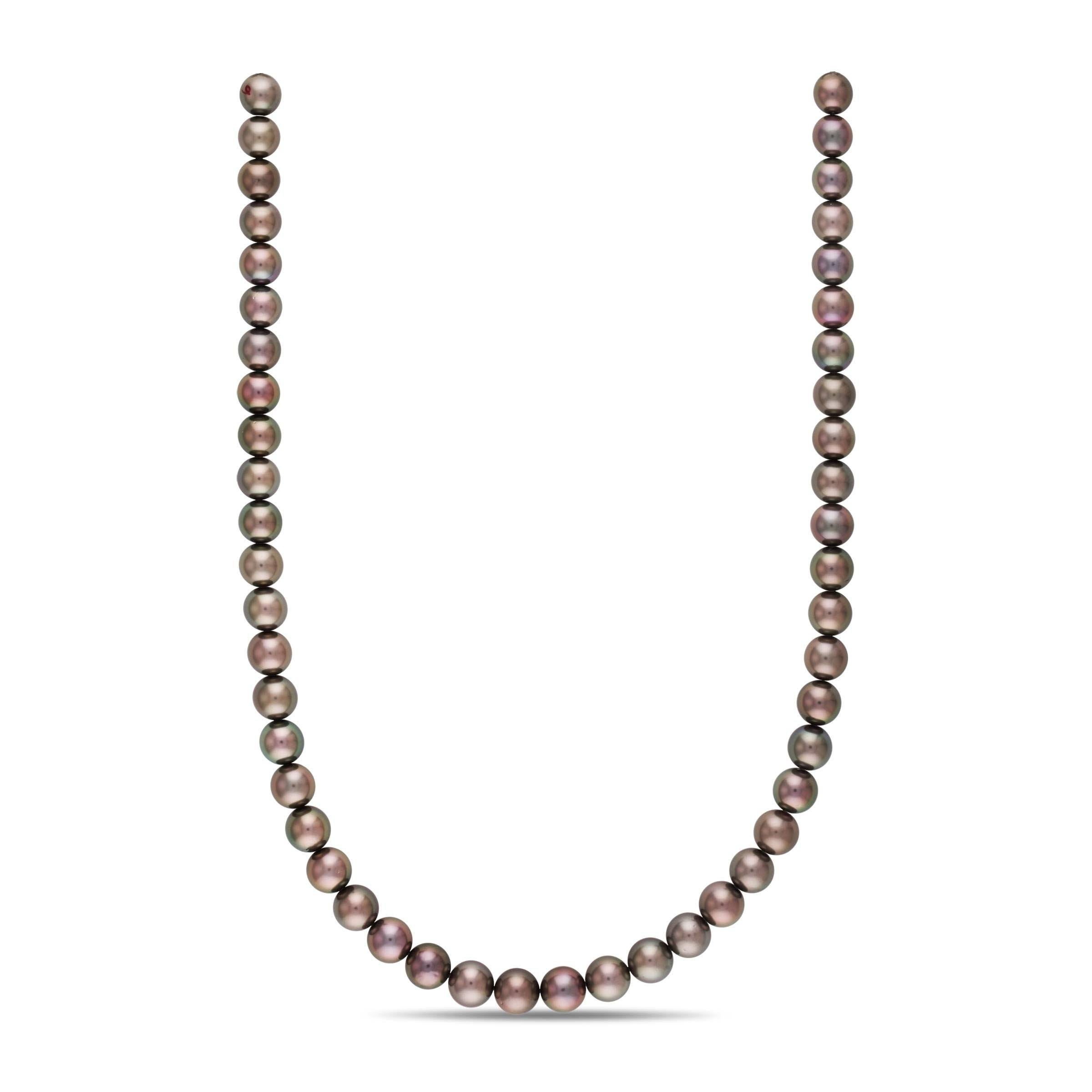 18-inch 8.1-9.0 mm AA+/AAA Round Tahitian Pearl Necklace