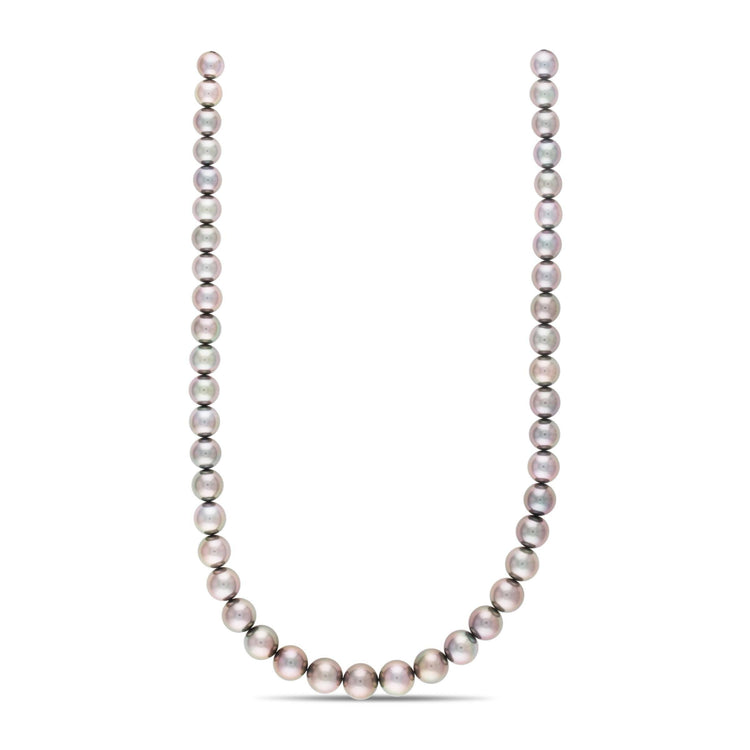 18-inch 8.1-10.5 mm AA+/AAA Round Tahitian Pearl Necklace
