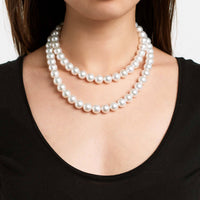 34-inch AAA 10.5-11.6 mm White South Sea Round Pearl Necklace