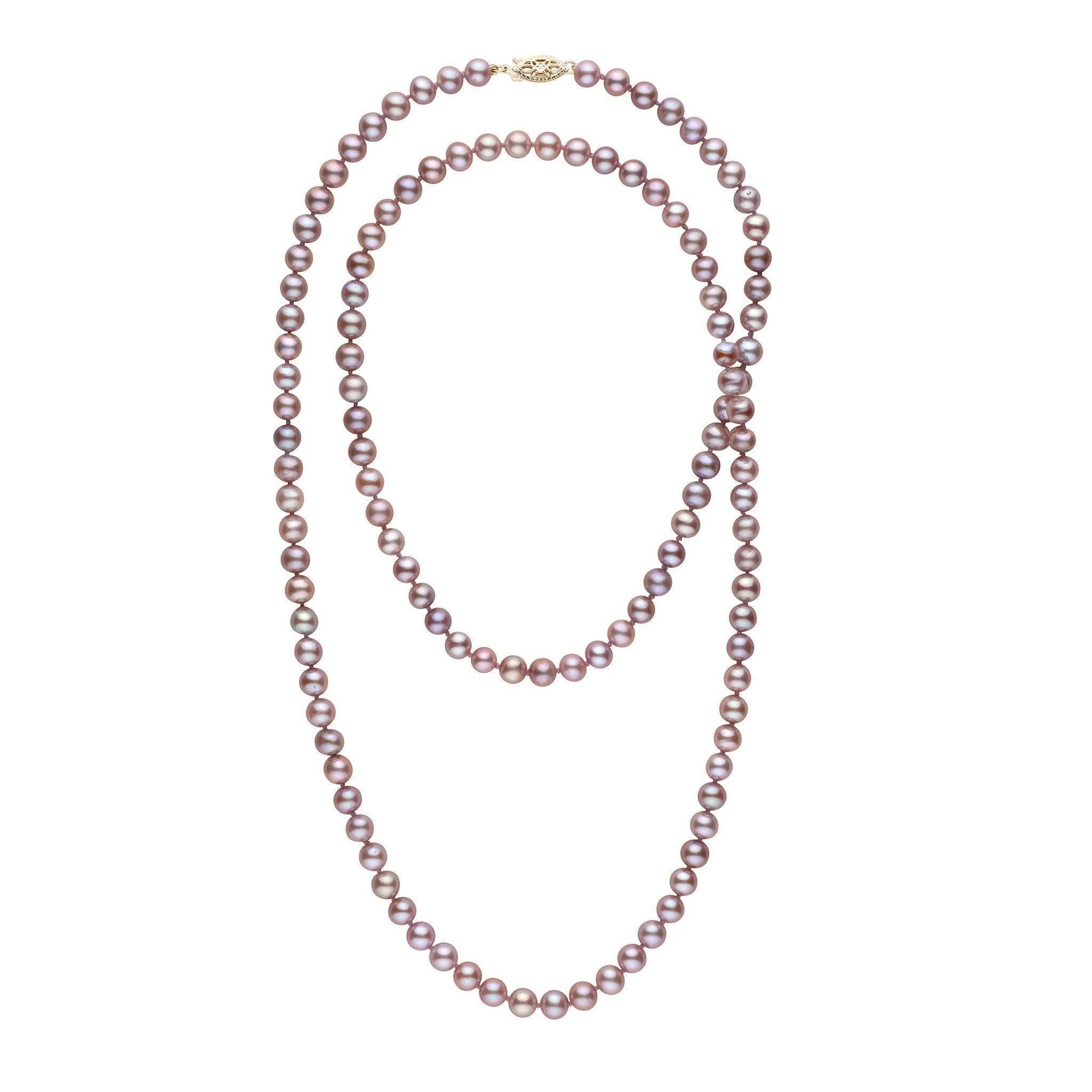35-inch 6.5-7.0 mm AA+ Lavender Freshwater Pearl Necklace