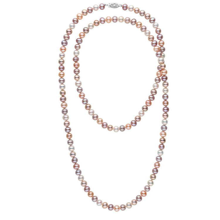 35-inch 6.5-7.0 mm AA+ Multicolor Freshwater Pearl Necklace