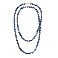 35-inch 6.5-7.0 mm AAA Black Freshwater Pearl Necklace