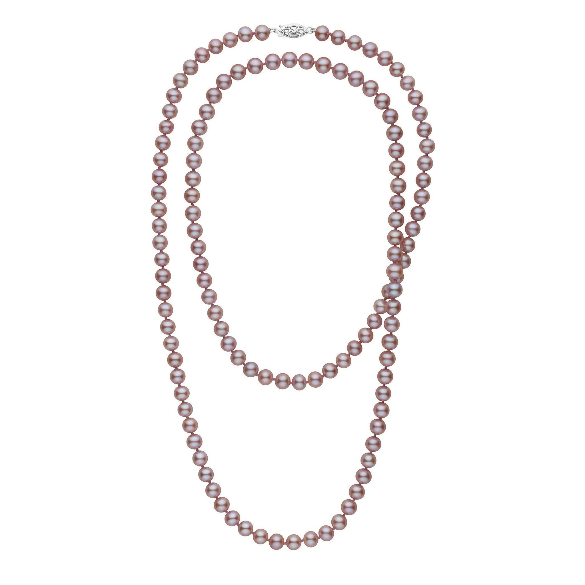 35-inch 6.5-7.0 mm AAA Lavender Freshwater Pearl Necklace