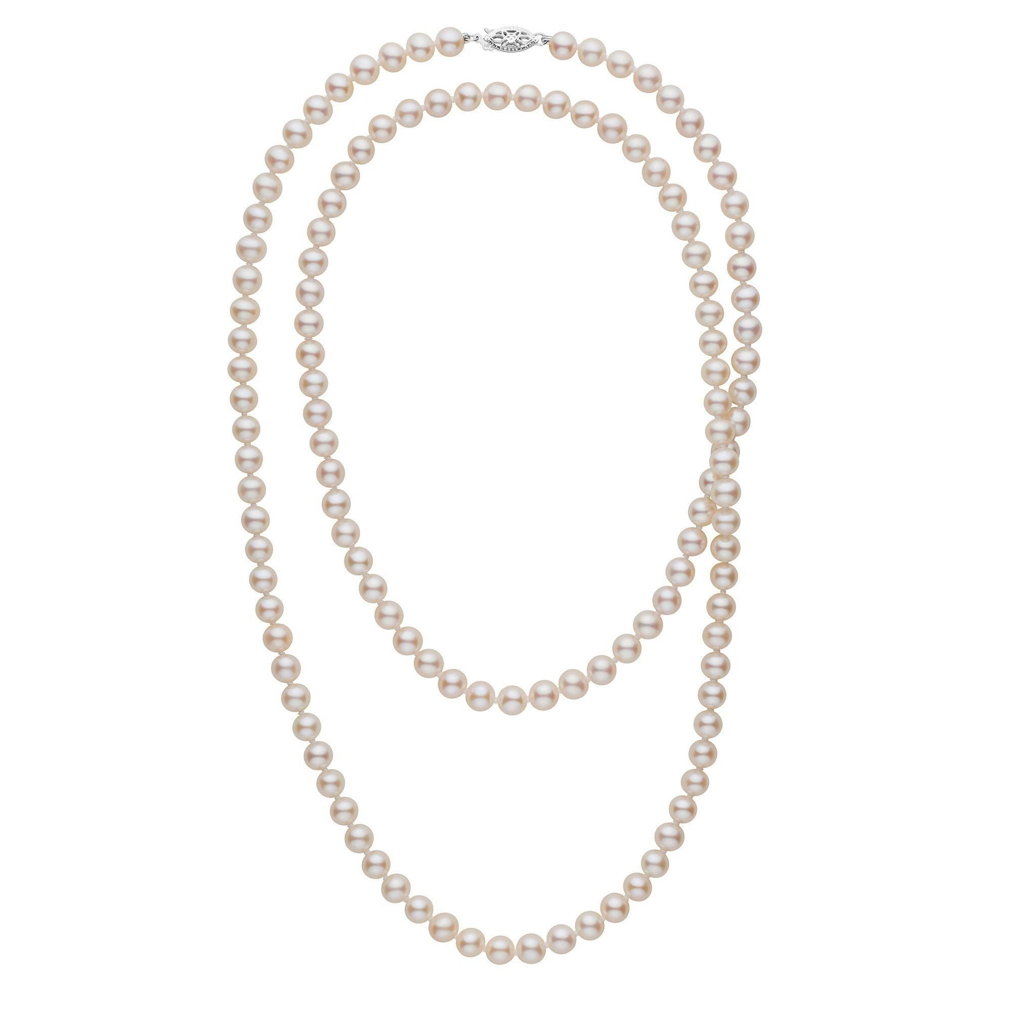 35-inch 6.5-7.0 mm AAA White Freshwater Pearl Necklace