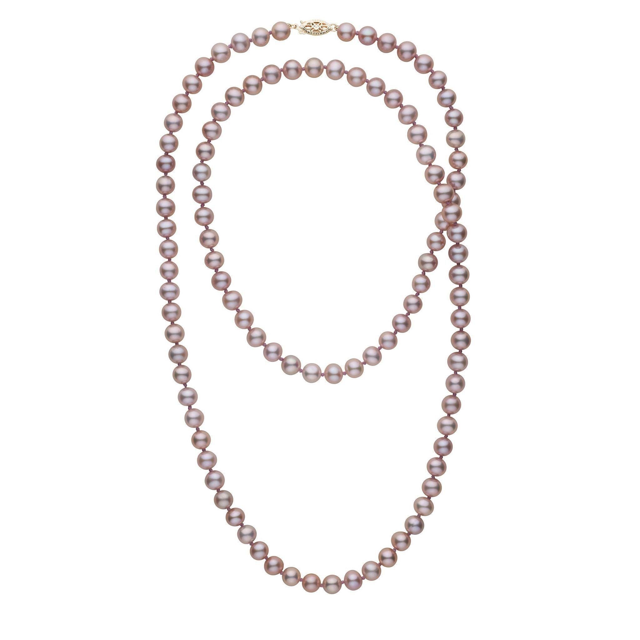 35-inch 7.5-8.0 mm AA+ Lavender Freshwater Pearl Necklace