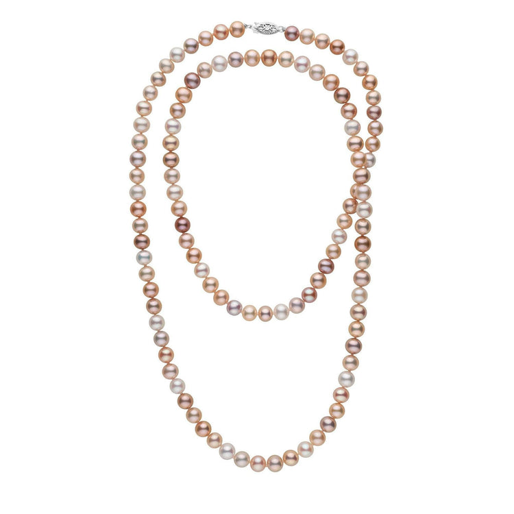 35-inch 7.5-8.0 mm AA+ Multicolor Freshwater Pearl Necklace