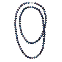 35-inch 7.5-8.0 mm AAA Black Freshwater Pearl Necklace