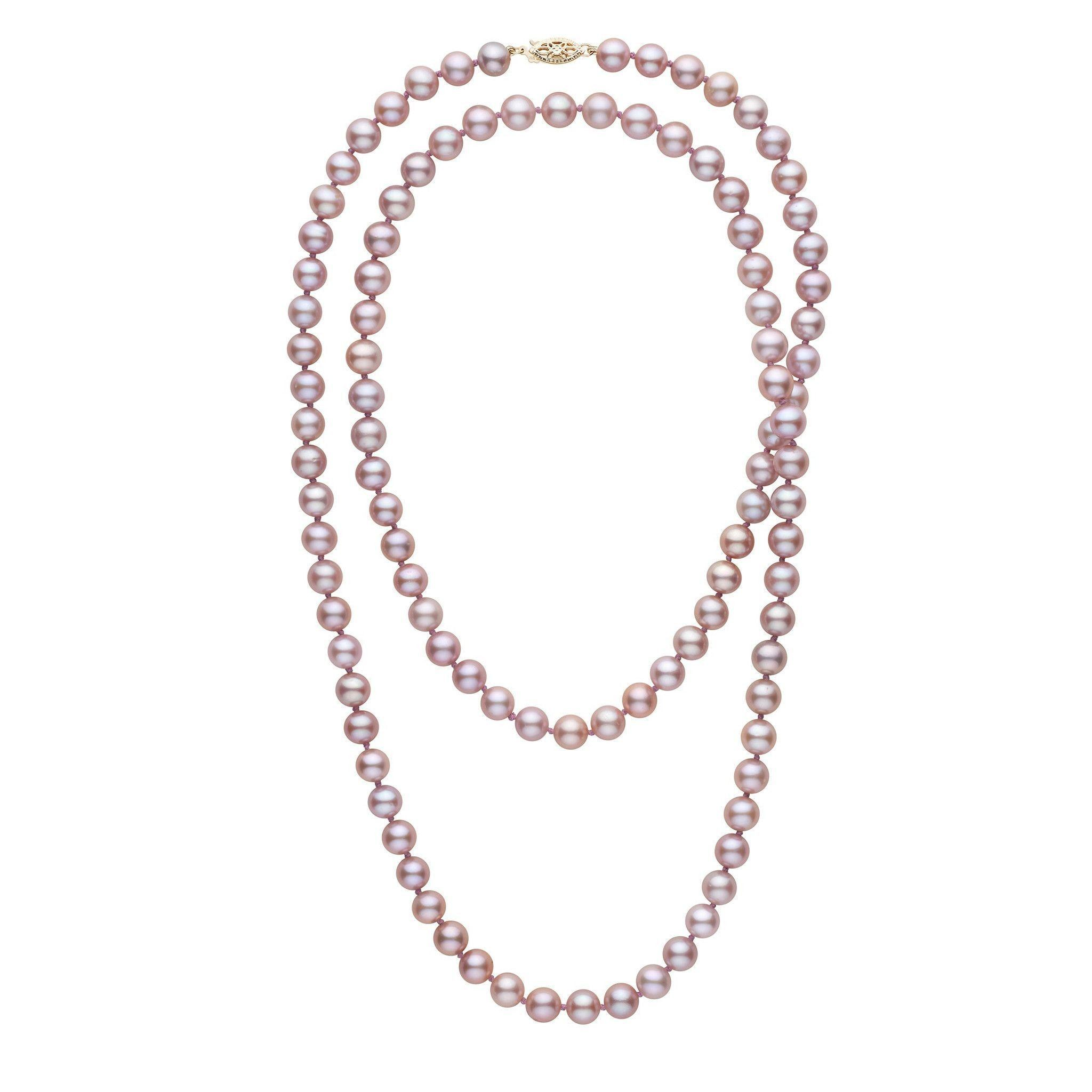 35-inch 7.5-8.0 mm AAA Lavender Freshwater Pearl Necklace