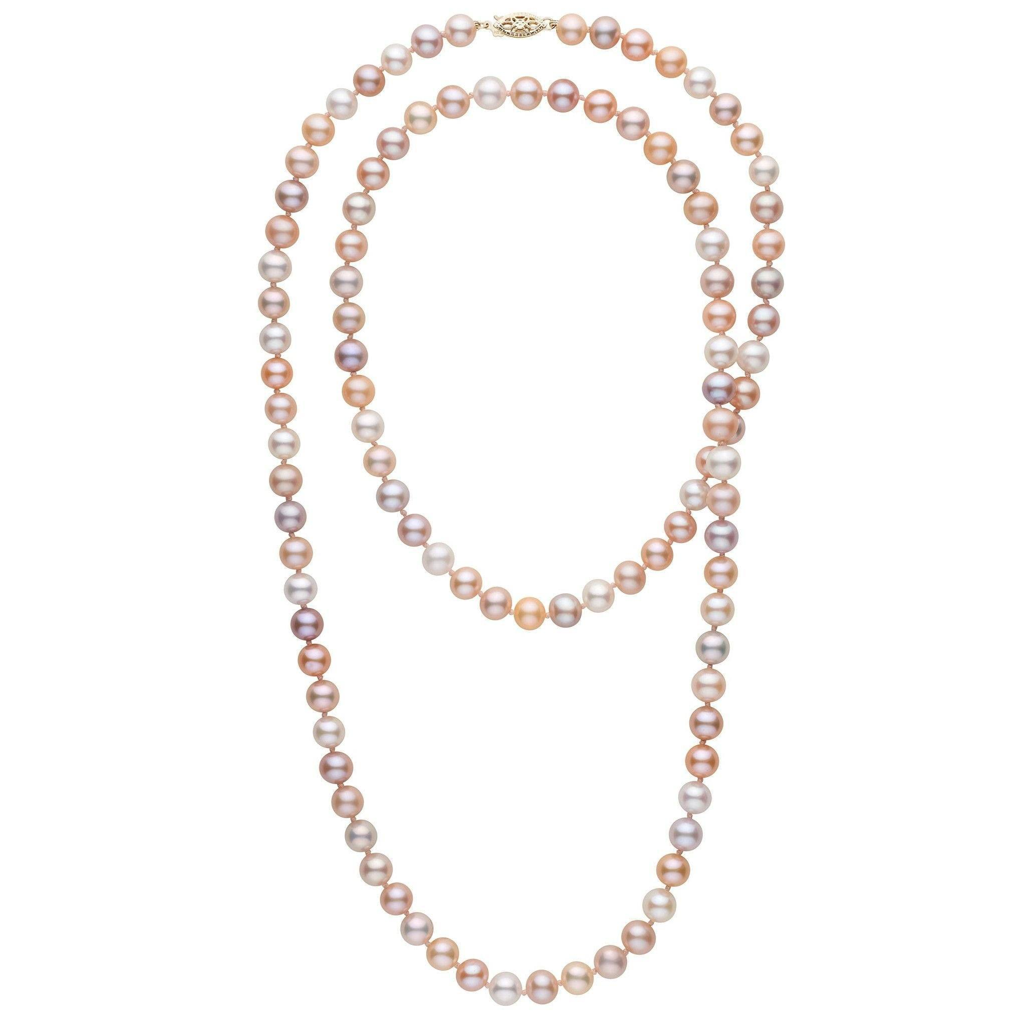 35-inch 7.5-8.0 mm AAA Multicolor Freshwater Pearl Necklace