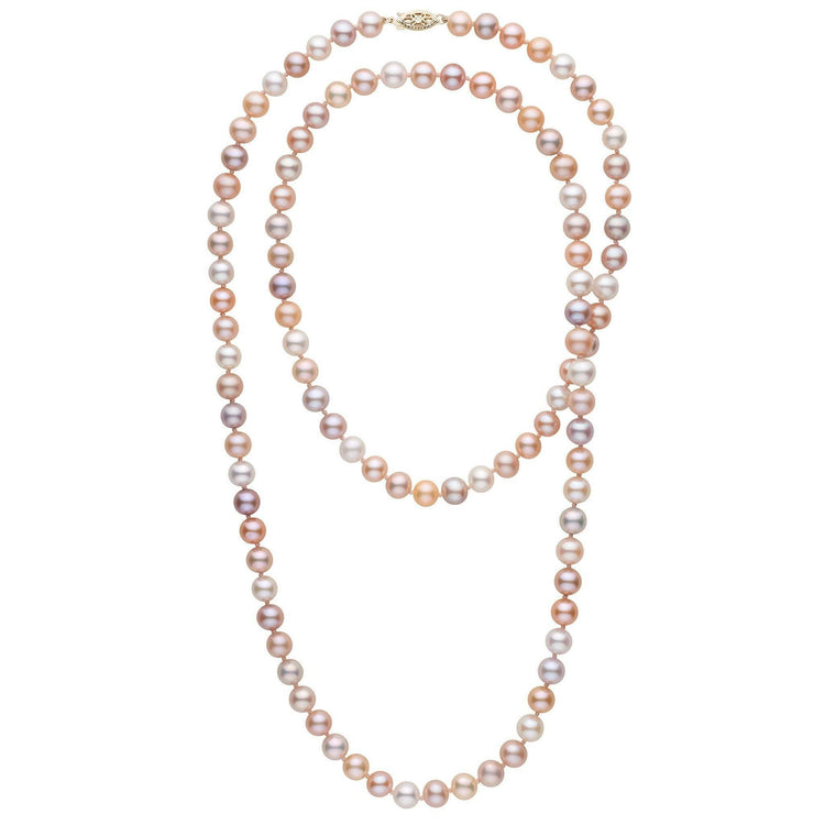 84cc5598f5649 35-inch 7.5-8.0 mm AAA Multicolor Freshwater Pearl Necklace