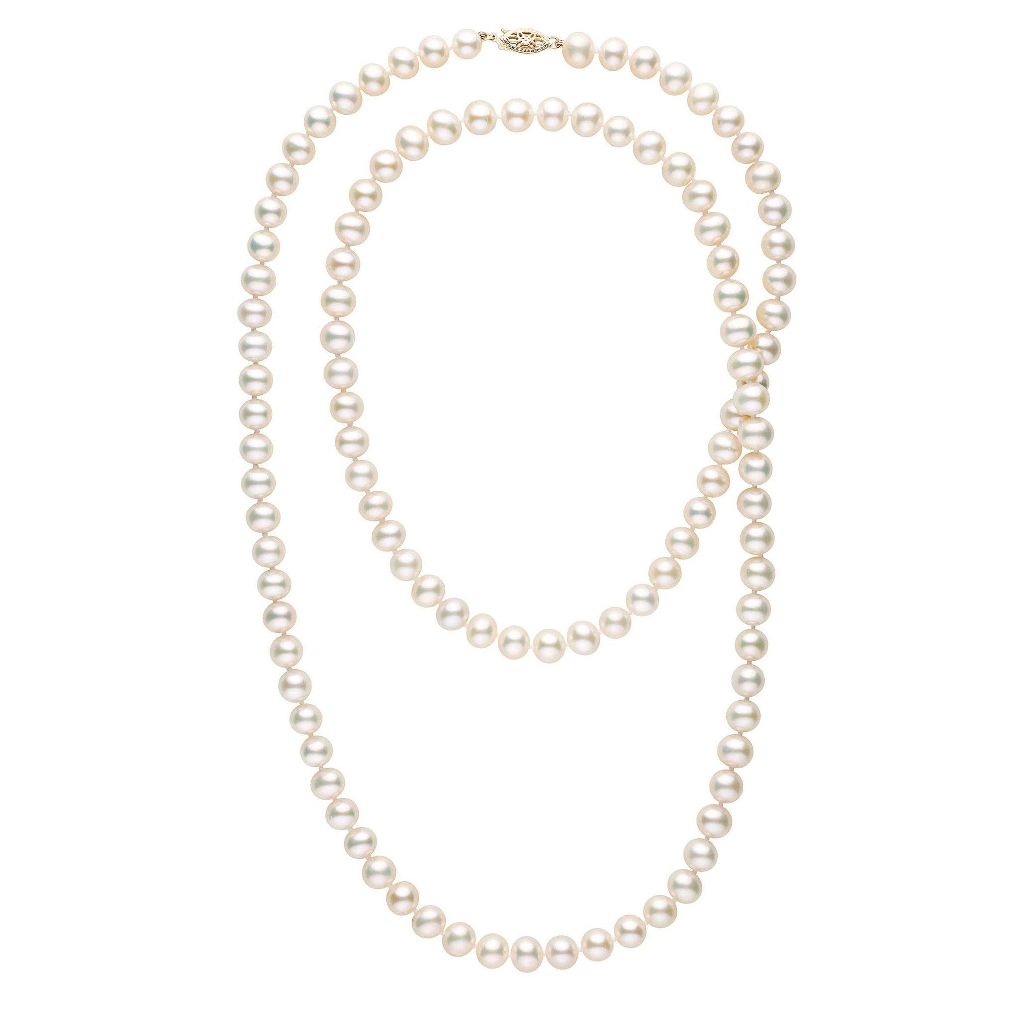 35-inch 7.5-8.0 mm AAA White Freshwater Pearl Necklace
