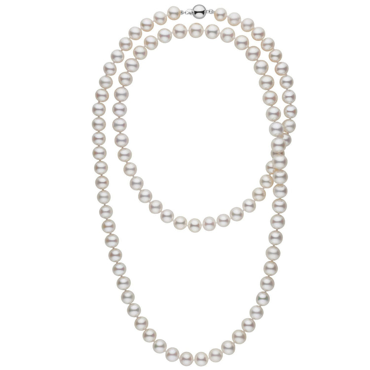 35-inch 8.5-9.0 mm AAA White Freshwater Pearl Necklace