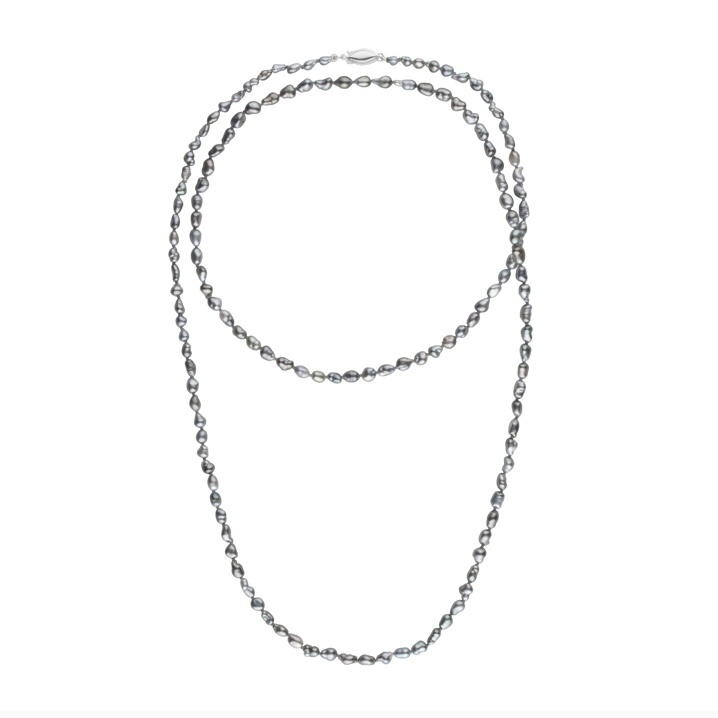 3.0-4.5 mm 35 Inch Keshi Tahitian Pearl Necklace