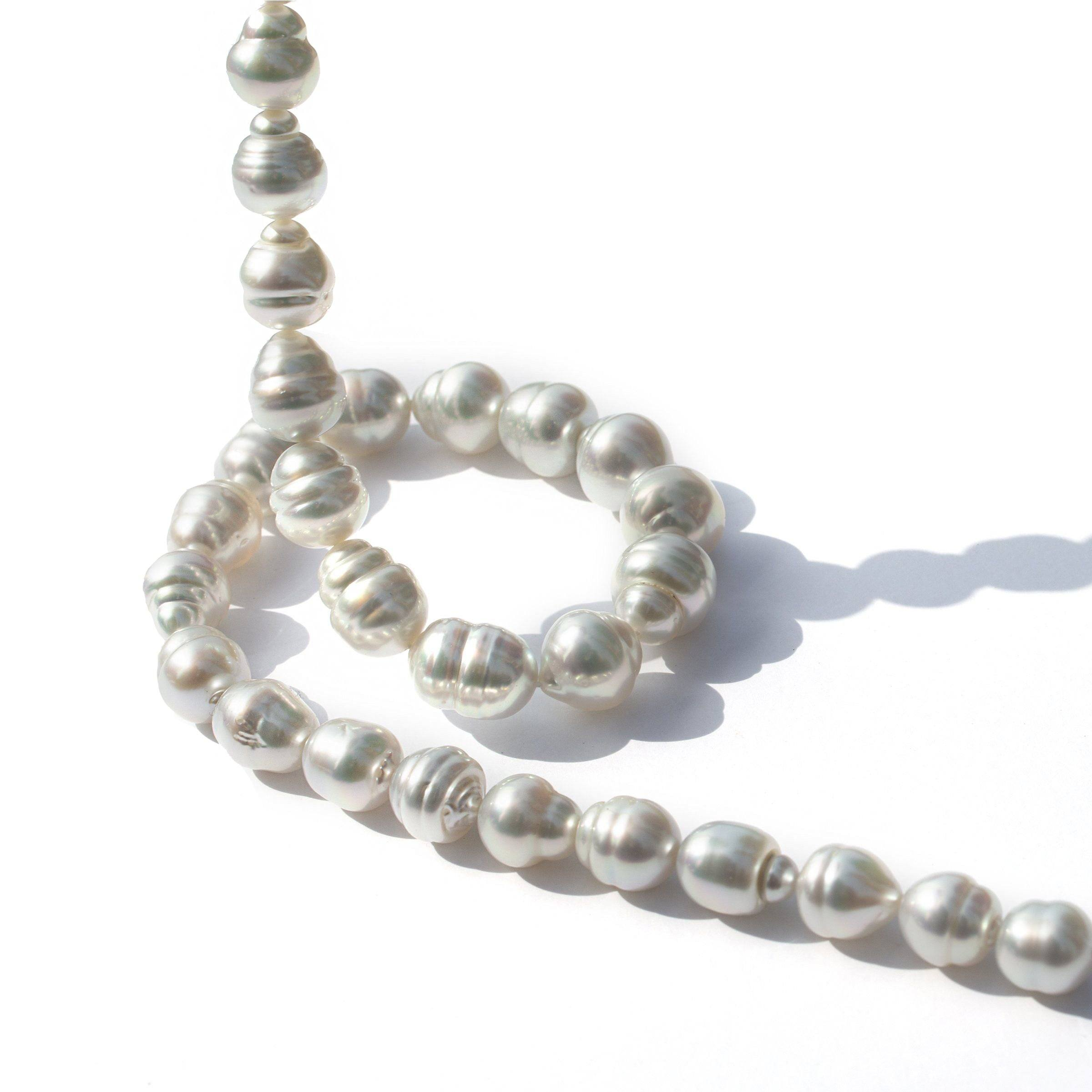 9.0-11.6 mm AA+/AAA White South Sea Baroque Necklace