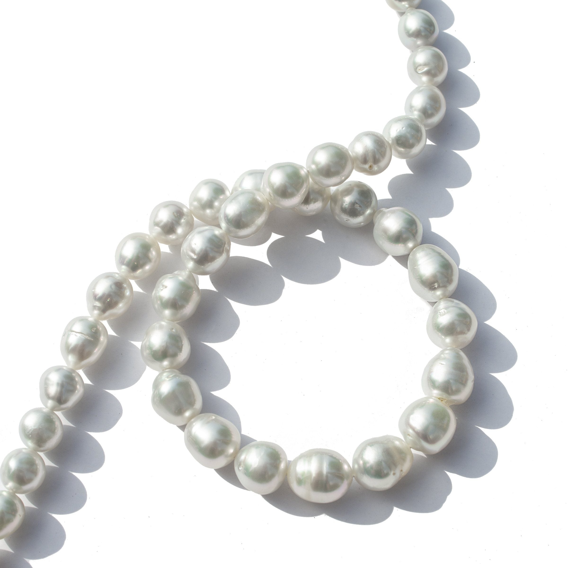 8.3-11.7 mm AA+/AAA White South Sea Baroque Necklace