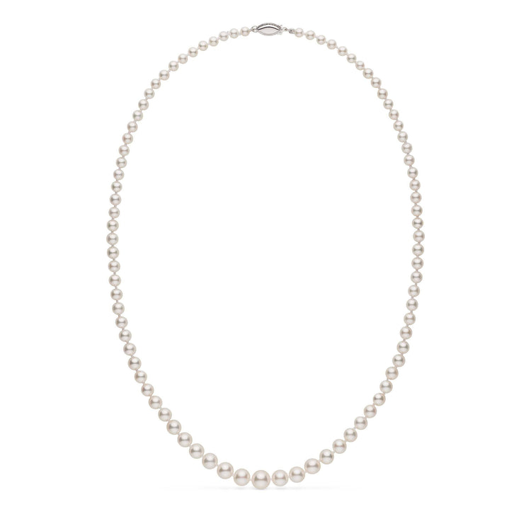 5 Momme Fine Graduated White Akoya Pearl Necklace