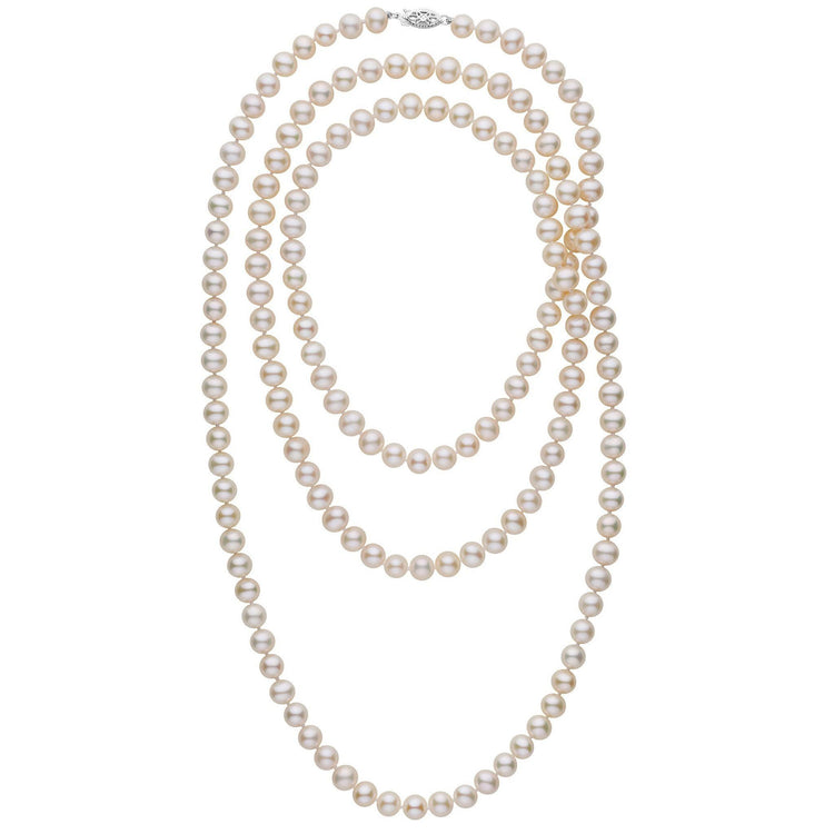 52-inch 7.5-8.0 mm AA+ White Freshwater Pearl Necklace