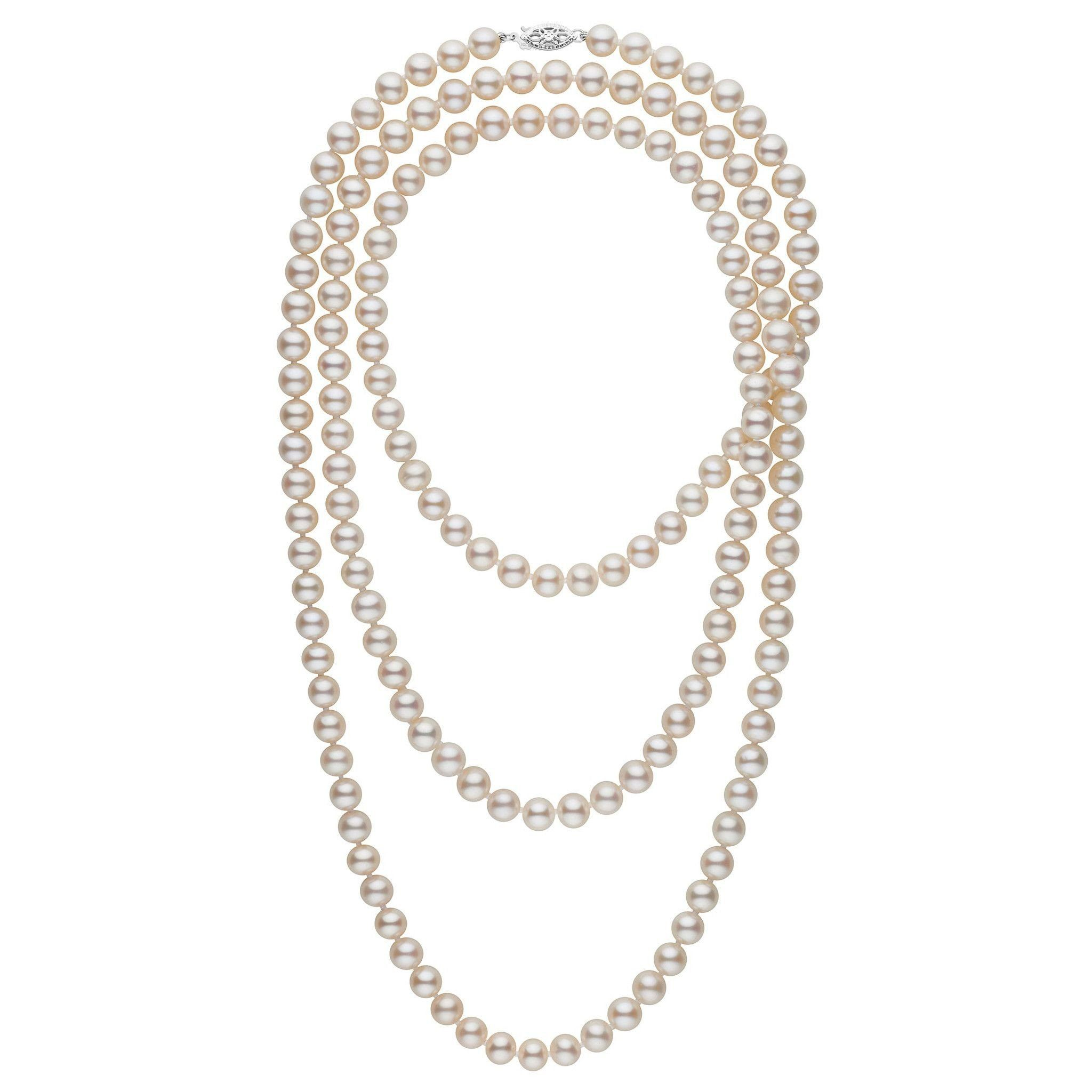 52-inch 7.5-8.0 mm AAA White Freshwater Pearl Necklace