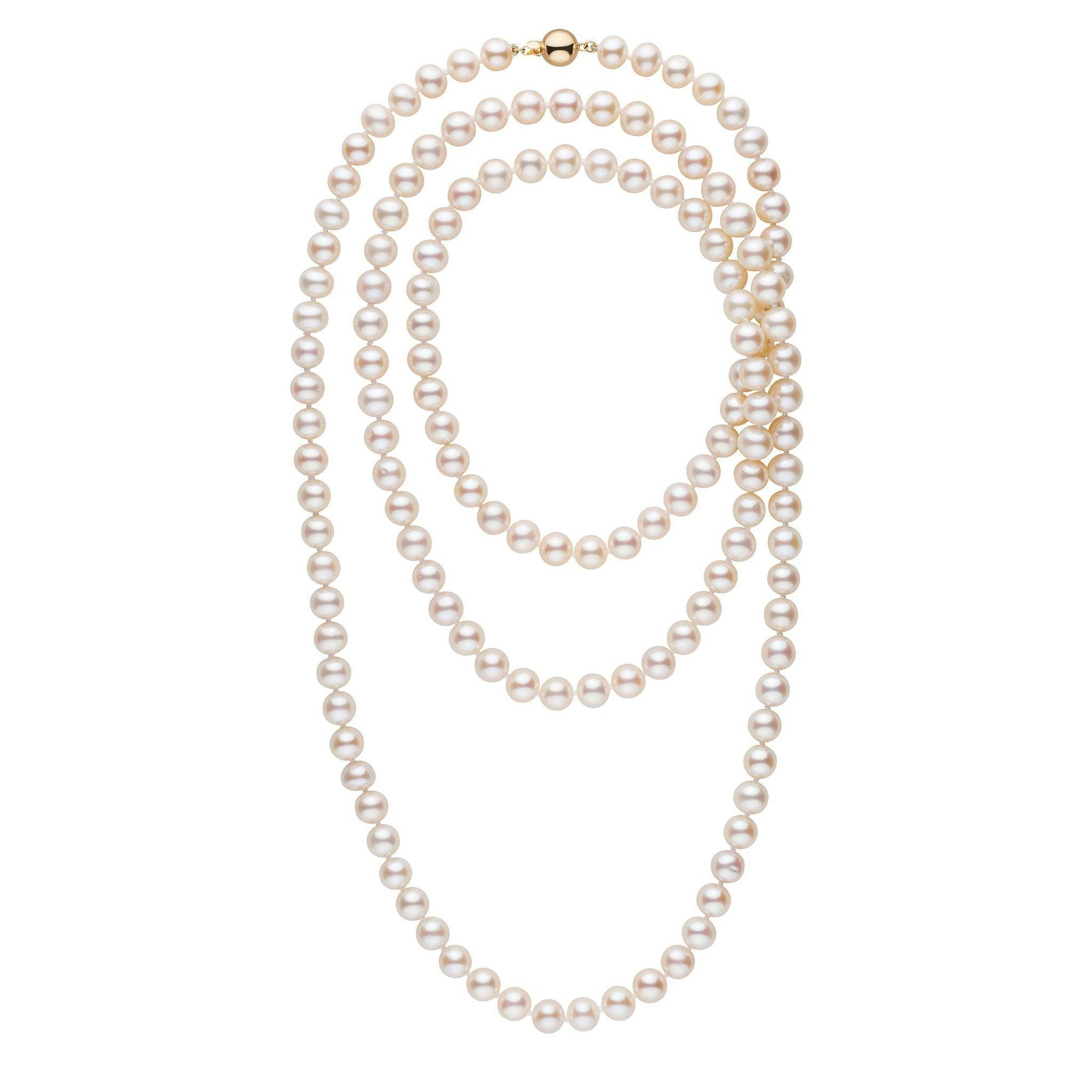 52-inch 8.5-9.5 mm AA+ White Freshwater Pearl Necklace