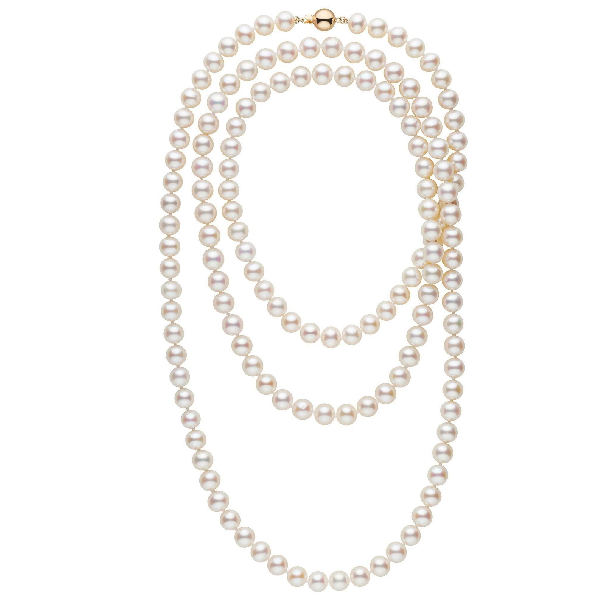 52-inch 8.5-9.5 mm AAA White Freshwater Pearl Necklace