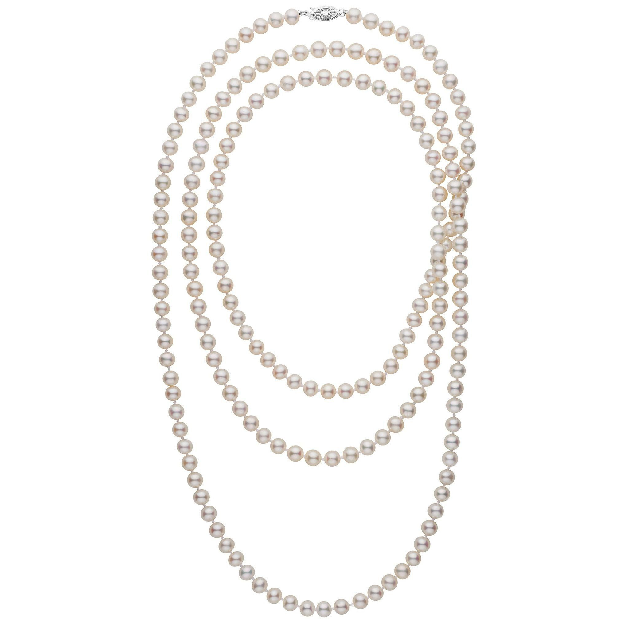 54-inch 6.5-7.0 mm AA+ White Freshwater Pearl Necklace