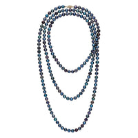 54-inch 6.5-7.0 mm AAA Black Freshwater Pearl Necklace