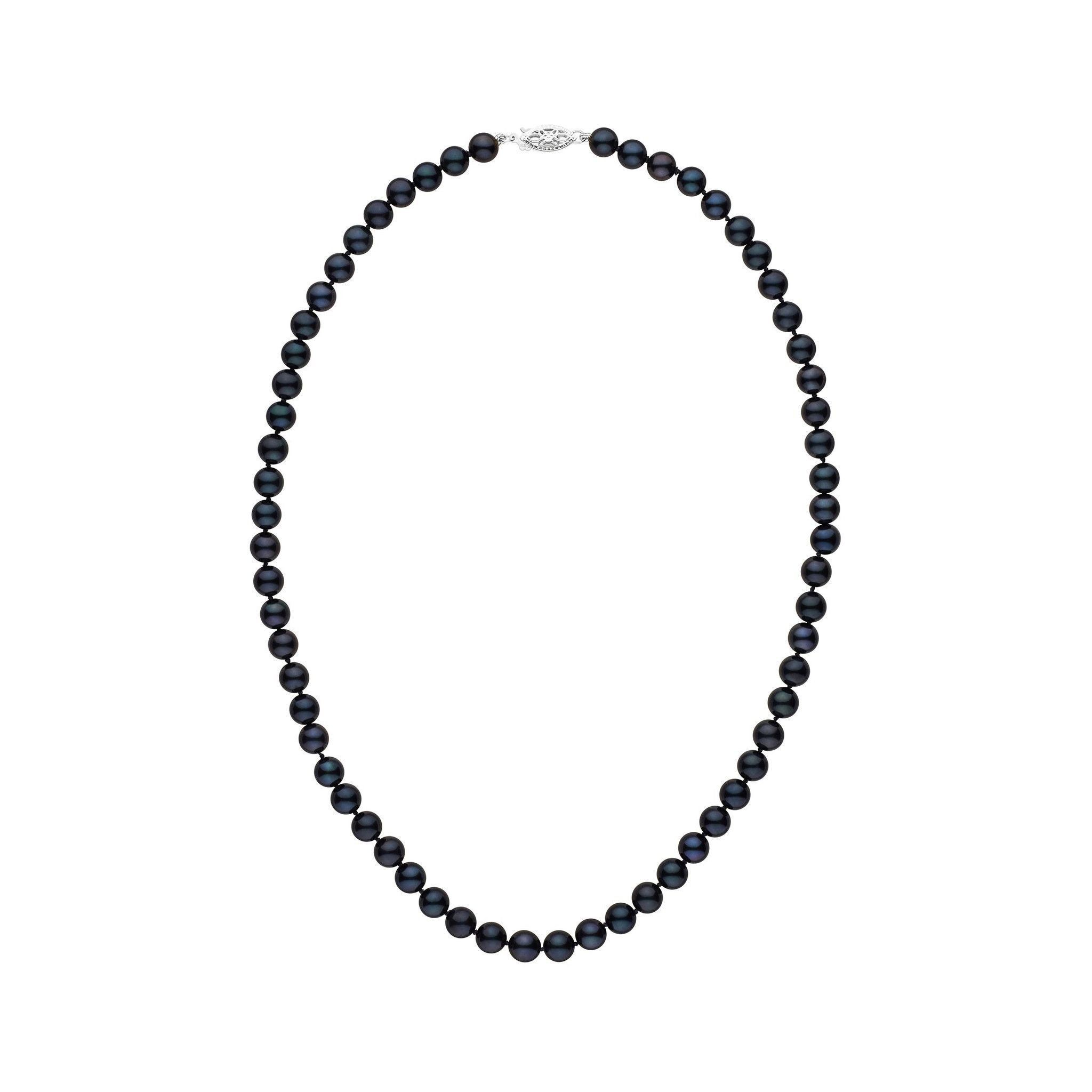 6.0-6.5 mm 16 Inch AA+ Black Akoya Pearl Necklace