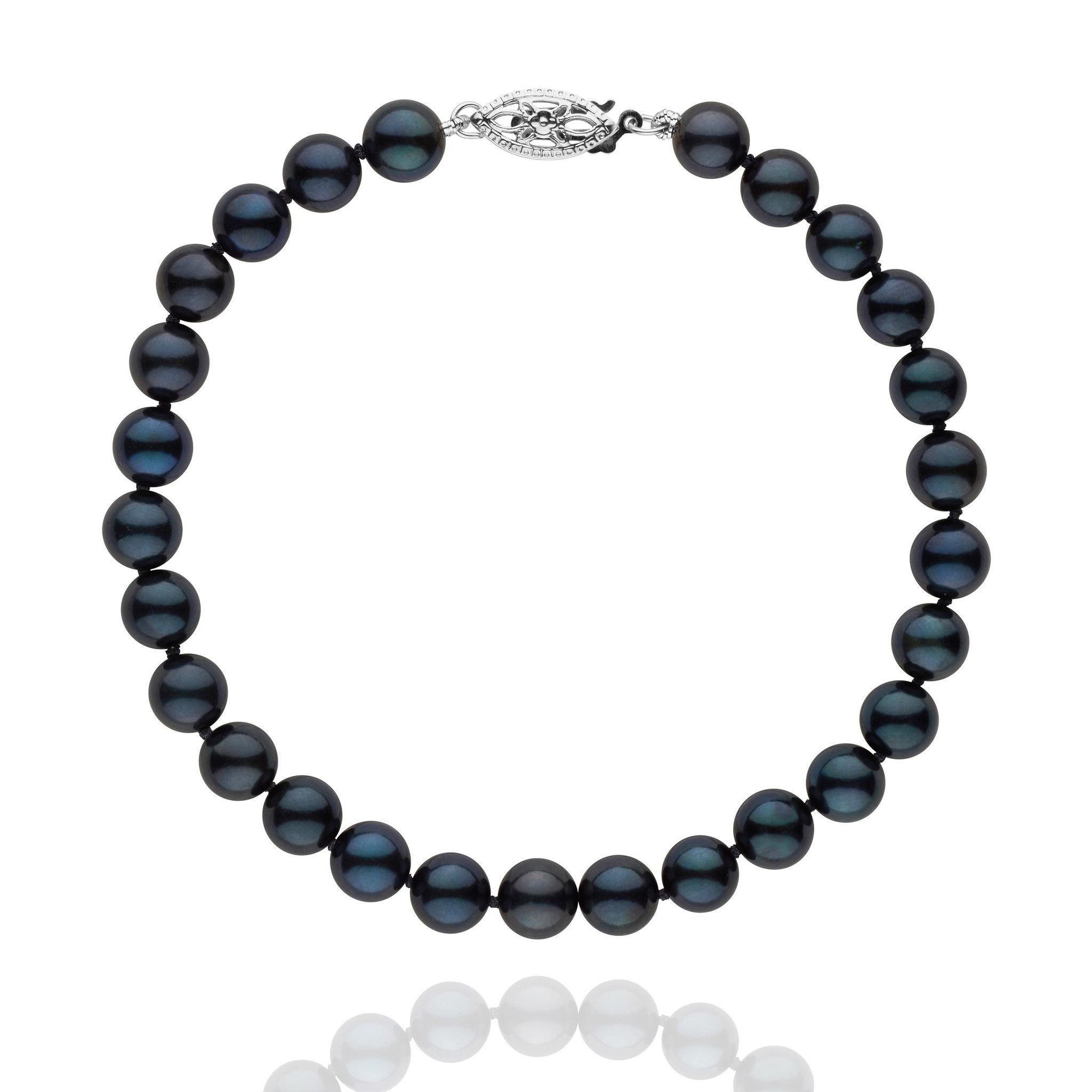 and silver from elements freshwater bracelet pearl image black ladies