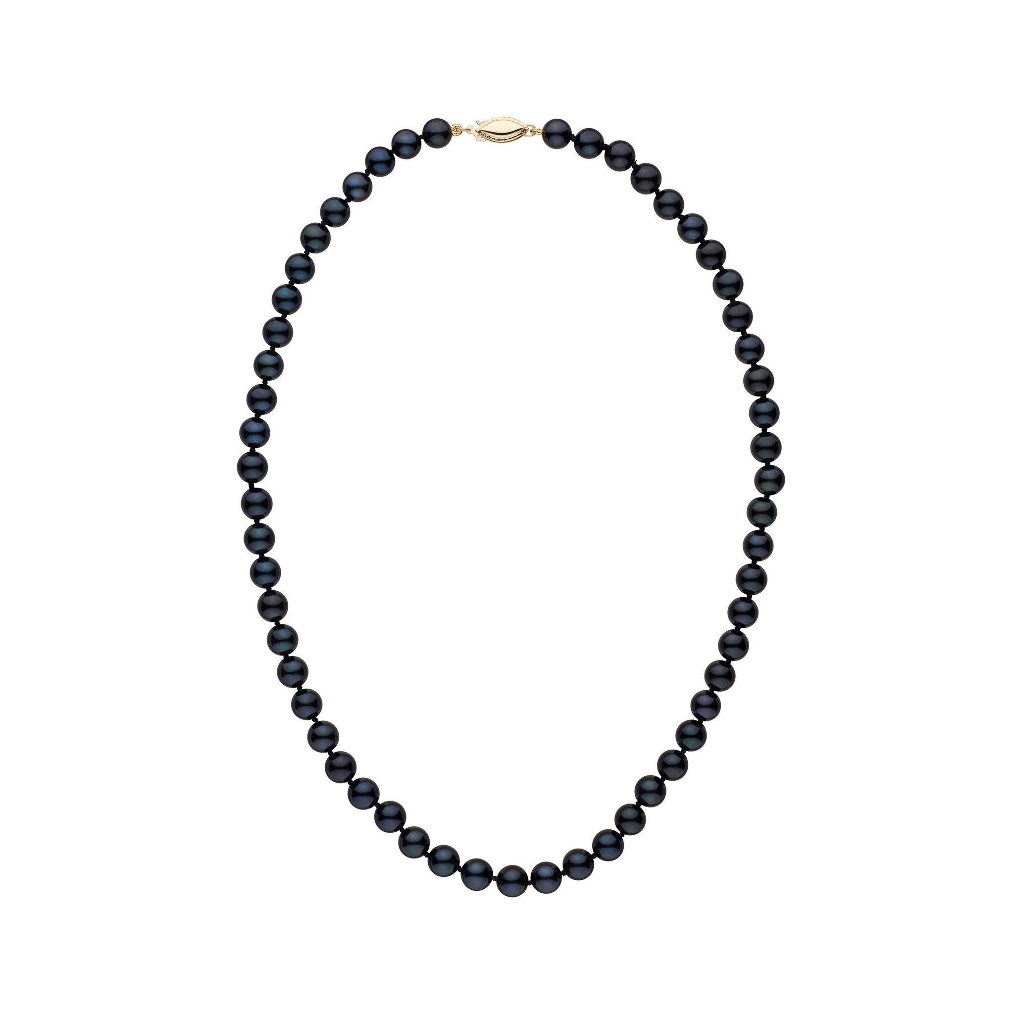 6.5-7.0 mm 16 Inch AA+ Black Akoya Pearl Necklace