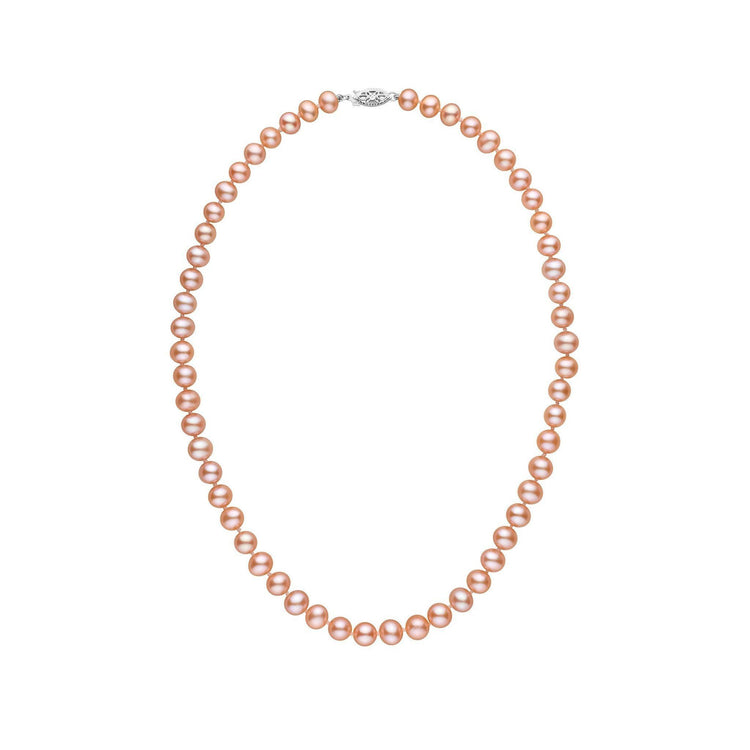 6.5-7.0 mm 16 Inch AA+ Pink to Peach Freshwater Pearl Necklace