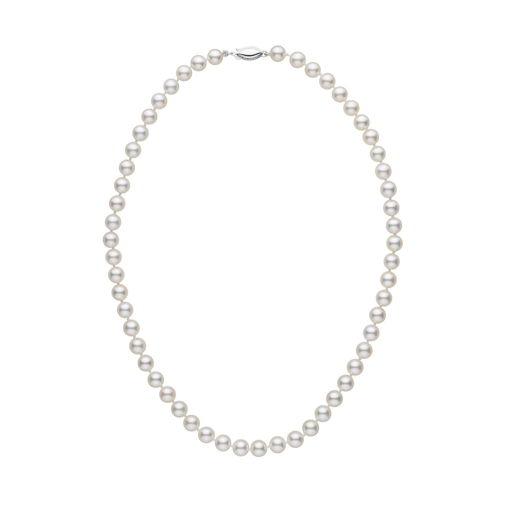 6.5-7.0 mm 16 Inch AA+ White Akoya Pearl Necklace