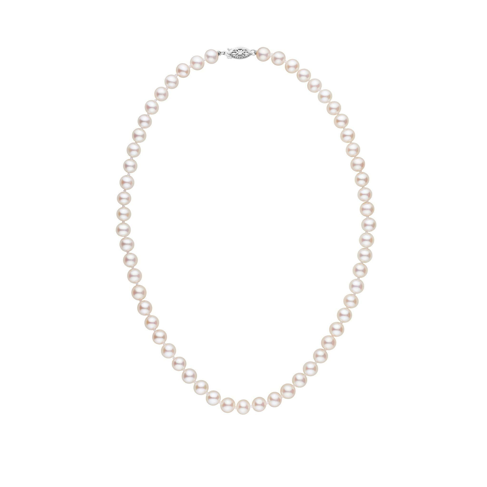 6.5-7.0 mm 16 Inch AA+ White Freshwater Pearl Necklace