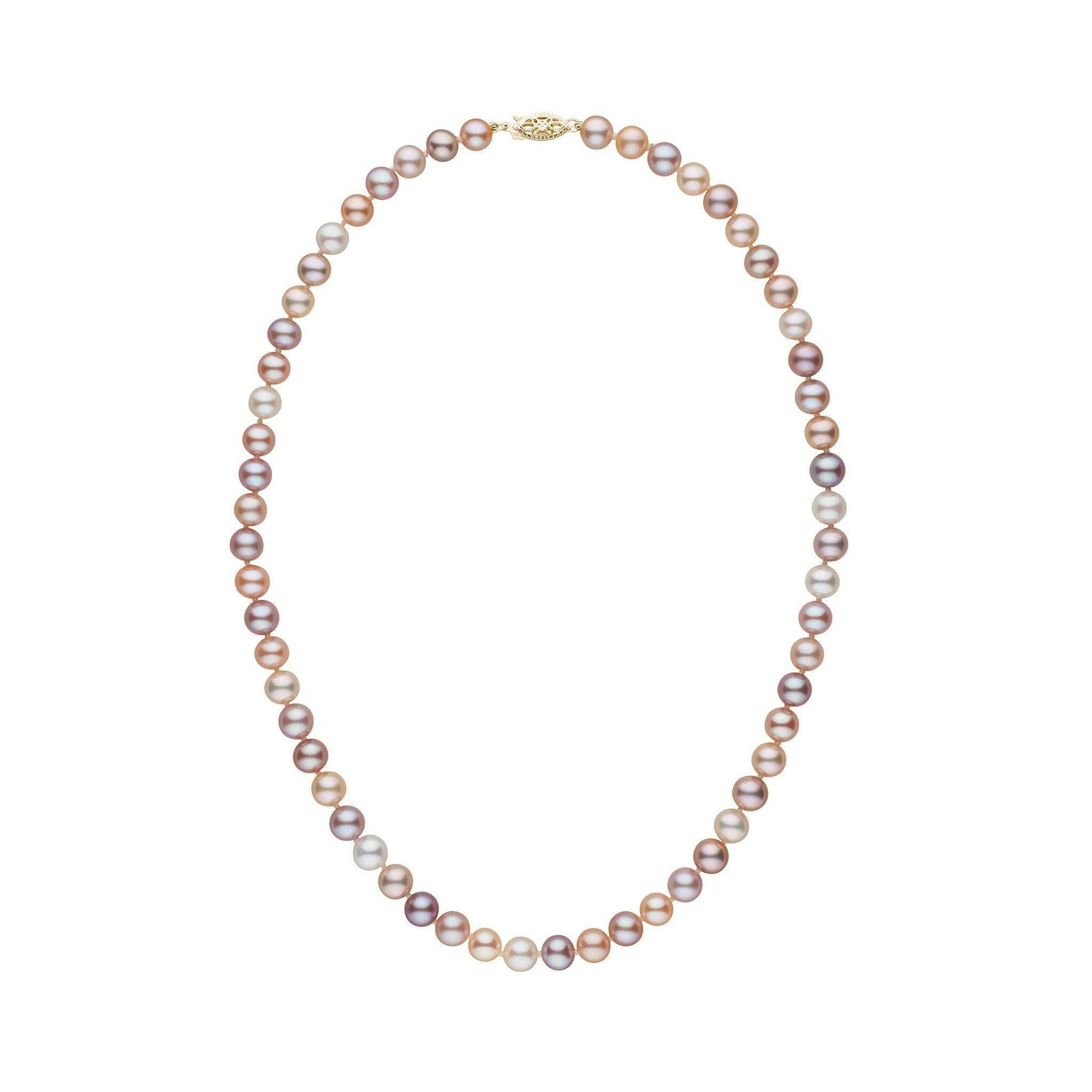 6.5-7.0 mm 16 Inch AAA Multicolor Freshwater Pearl Necklace