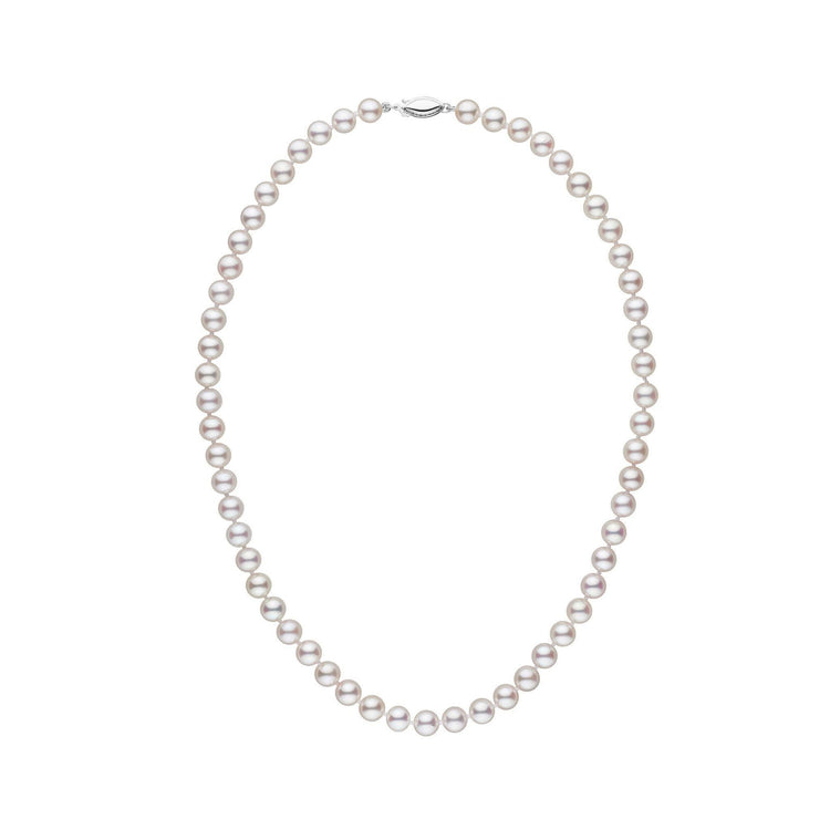 6.5-7.0 mm 16 Inch AAA White Akoya Pearl Necklace