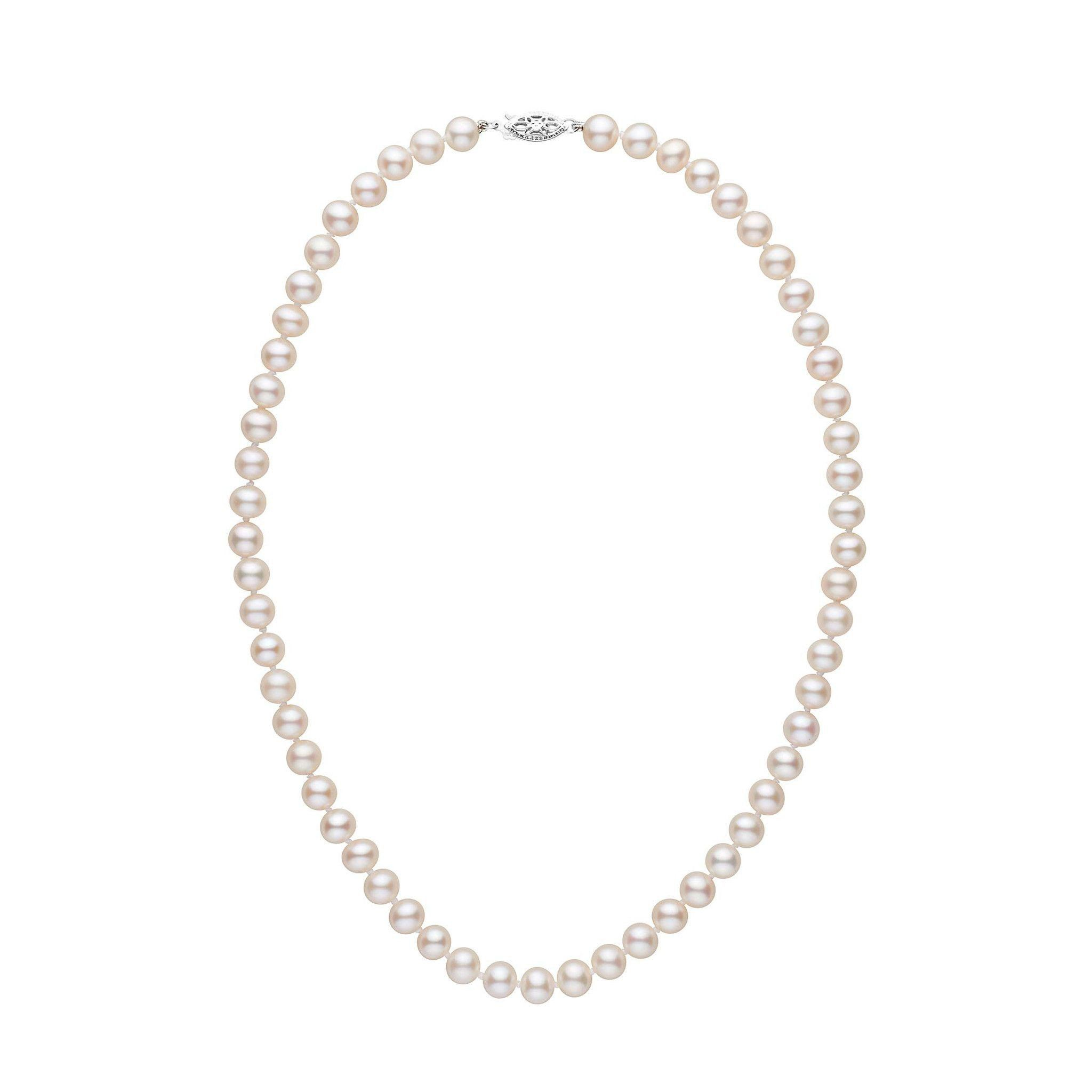 6.5-7.0 mm 16 Inch AAA White Freshwater Pearl Necklace