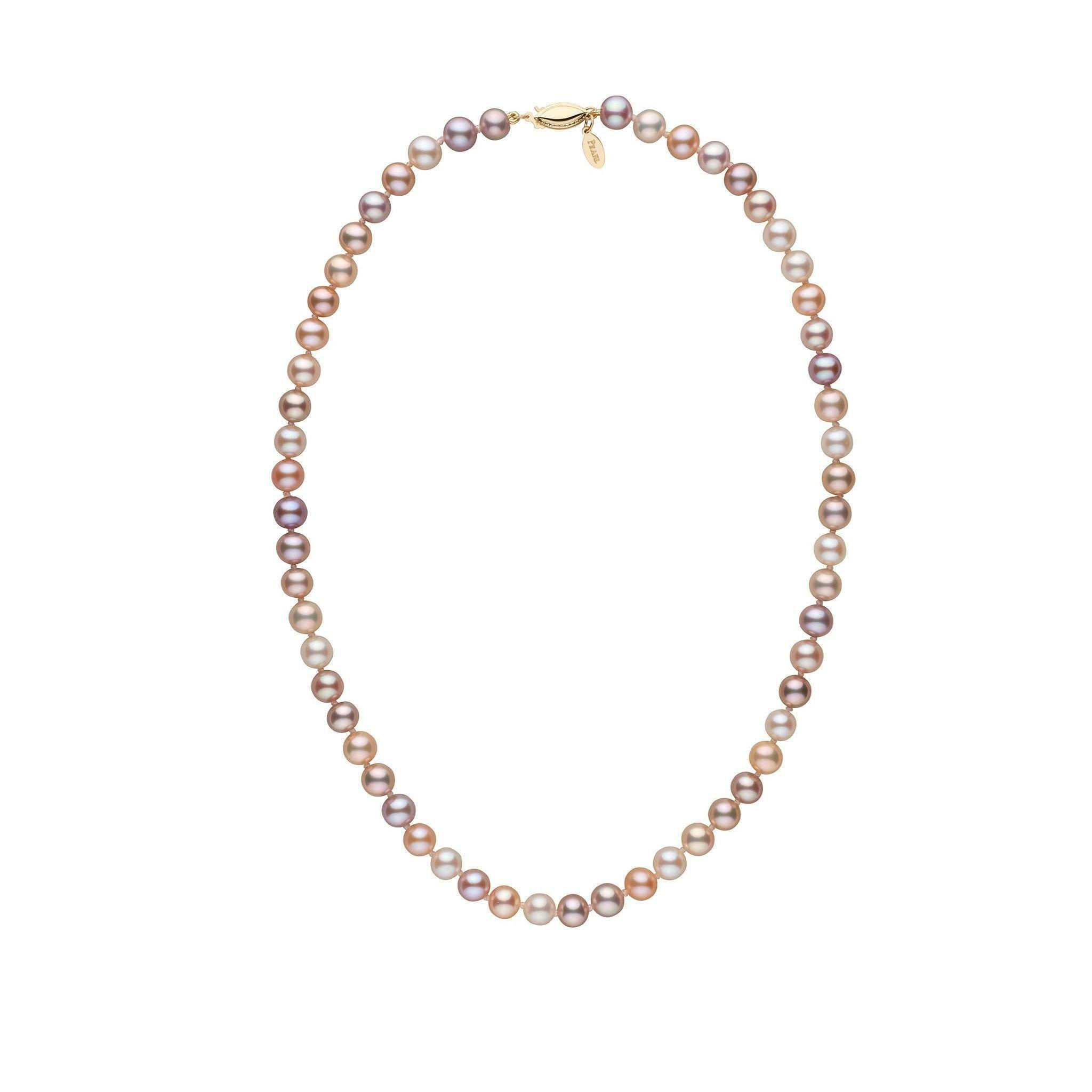 6.5-7.0 mm 16 Inch Multicolor Freshadama Freshwater Pearl Necklace