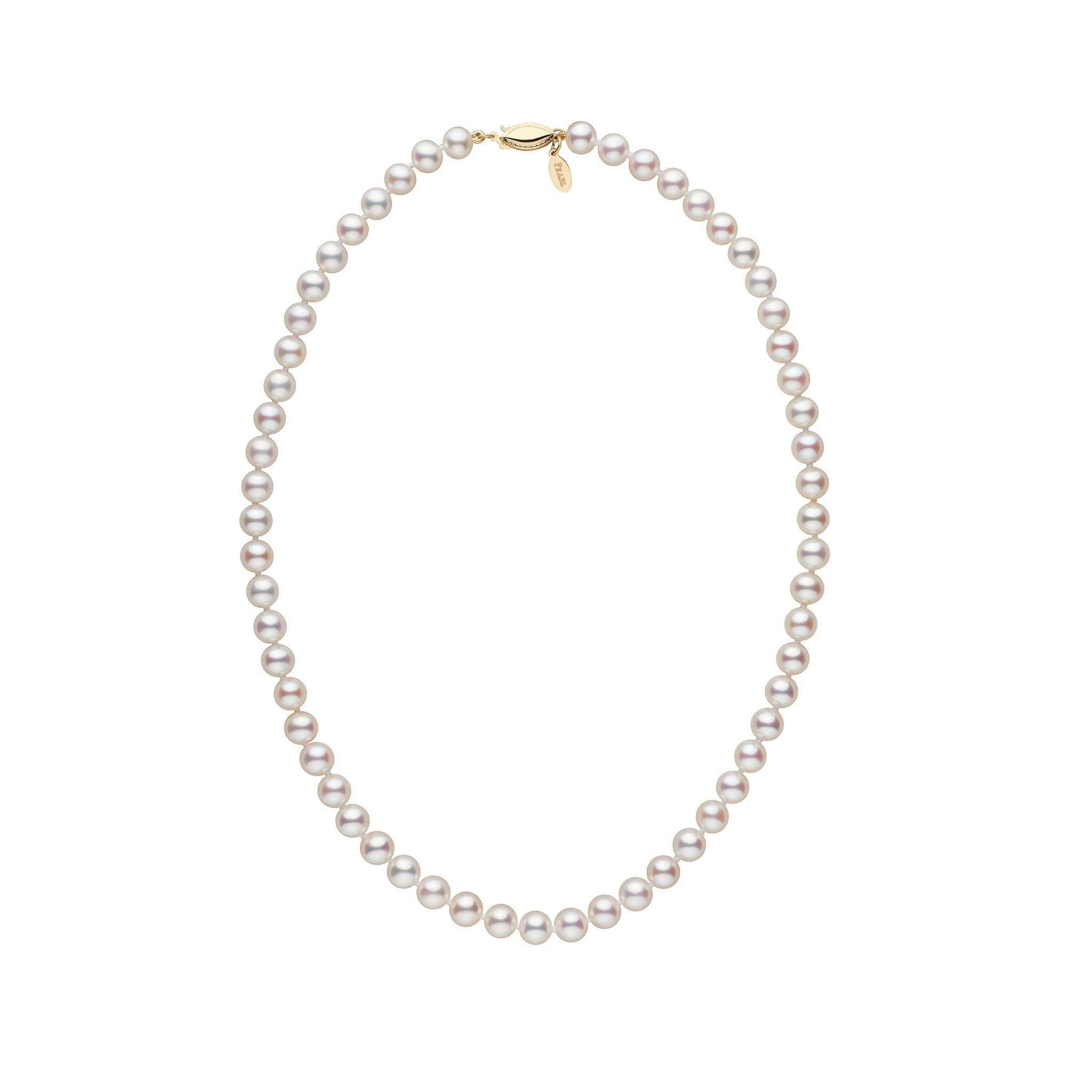 6.5-7.0 mm 16 Inch White Freshadama Freshwater Pearl Necklace
